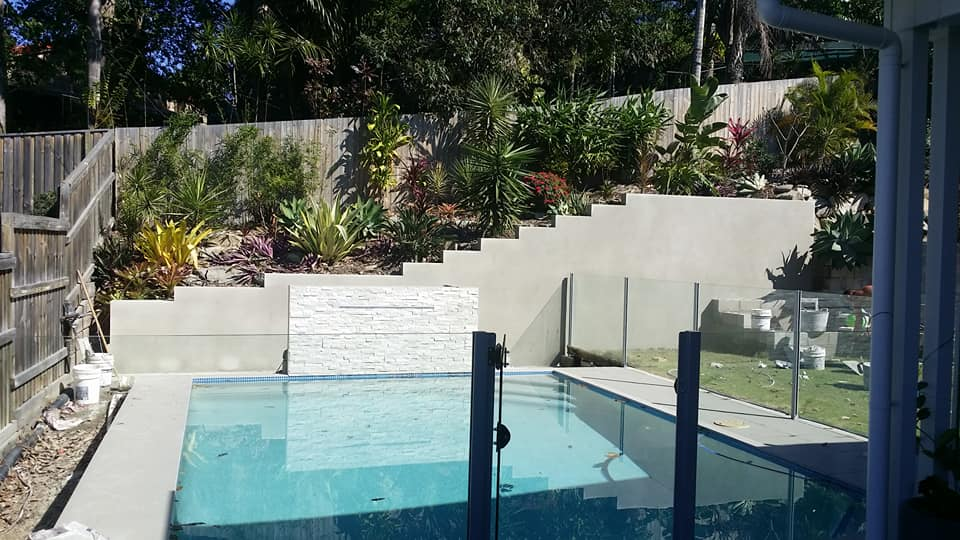 Rendered Block Wall Buderim